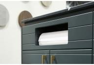 Integrated paper towel dispenser