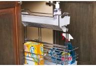 Removable Under Sink Sliding Baskets