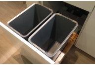 Double Sliding Waste Bins